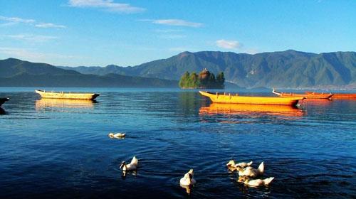 西昌泸沽湖图片,  西昌泸沽湖